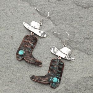 Jewelry - Western Boots Fish Hook Earrings